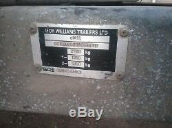 Ifor Williams Gd84 Amk3 2700 KG Double Essieu Remorque Porte-échelle Tailbord
