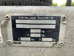 Ifor Williams Gx106 Remorque D'essieux Jumeaux 3500kg