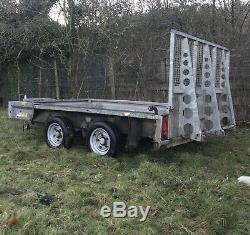 Ifor Williams Gx106 Remorque Rampe Côtés Usine De Repos Surbaissée Double Essieu Digger