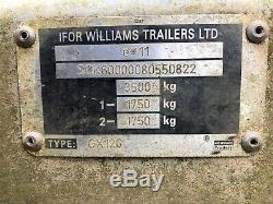 Ifor Williams Gx126 Double Essieu 12x6ft 3,5 Tonnes Voiture Plant Remorque Ta4 Zone Williton