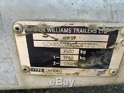 Ifor Williams Lm106g Double Essieu Dropside Trailer 3500 KG