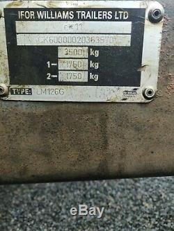 Ifor Williams Lm126g Double Essieu Ridelles Remorque Robuste Rampe 3500kgs