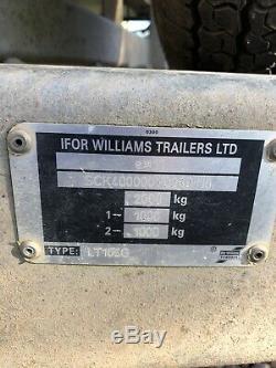Ifor Williams Lt105 Double Essieu Ridelles Remorque Freinée 2000 KG