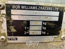 Ifor Williams Lt85g Double Essieu Côté Abaissable Trailer 2000 KG