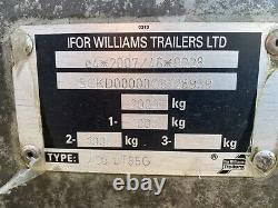 Ifor Williams Lt85g Twin Essieu Drop Side Trailer