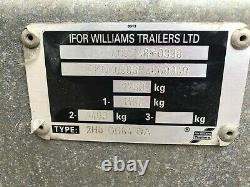 Ifor Williams Remorque Gd84g Twin Axle Garden Utilitaire Avec Cover Ramp Mesh Sides