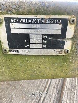 Ifor Williams Remorque, Plat, 3500 Kg, Double Essieu, Galvanisé, Voiture, Transporter