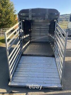 Ifor Williams Ta5g-10 Twin Axle Livestock Trailer 2600kg Avec Ponts