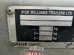 Ifor Williams Ta5ghd-12 Double Essieu Élevage Remorque Avec Des Ponts Et 3500 KG Portes