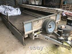 Ifor Williams Trailer 10ft Comprend Sides Model Lt105g Flatbed Twin Axle 2.6 Ton