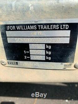 Ifor Williams Tt85g Twin Farmtech Trailer Bon État Avec Des Rampes De Chargement