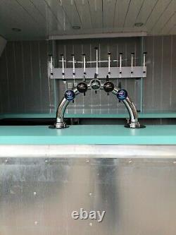 Indespension Bi-essieu Mobile Bar Remorque Nouvelle Conversion Parfaite Pour Le Jardin De Bière
