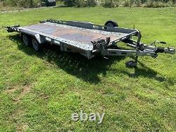 Indespension Twin Axle Car Transporter Remorque 2700kg 16ft