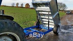 Jsa 3 Ton Remorque Basculante Twin Ram Hauteur Basse Charge Corps Galvanisé Tva Inc