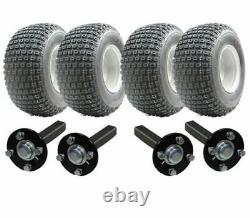 Kit Remorque Vtt Twin Axle Quad Remorque 4 Roues Hub / Stub Pas D'attelage 400kgs