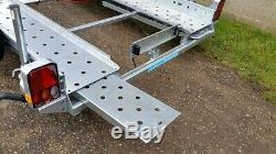 New Woodford Stt 070 Double Essieu Voiture Transporter Remorque 14' X 6'1
