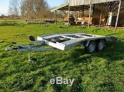 Niewiadow Double Essieu Car Transporter Remorque 1 An Utilisé 5 Fois