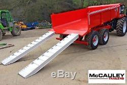 Nouveau 2019 14 Ton Mccauley Remorque Basculante, Tracteur, Pelle, Low Loader, Jcb