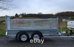 Nouveau Nugent 10ft Twin Axle General Purpose Trailer, Mesh & Ramp Tailgate +vat