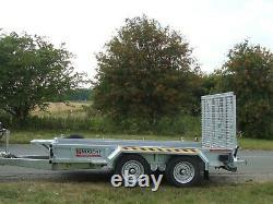 Nouveau Nugent P3718h 12ft Twin Axle Plant Trailer C / W S. Roue Fermés En Cotes + Tva