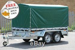 Nouveau Trailer Voiture Martz Double Essieu 263cm X 125cm 8.8ftx4.2 Green 110 750 KG Couverture CM