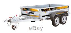 Nouvelle Erde 234 × 4/234 Classique Double Essieux Freinés Remorque Rrp £ 2300 Mgw 1500 KG