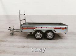 Nouvelle Marque Twin Axle Remorque 263 CM X 125 CM 750 KG Avec Étrier