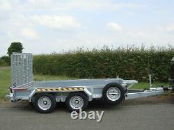 Nouvelle Nugent P3116h 10ft Twin Axle Plant Trailer C/w S. Wheel Closed In Sides+ Vat