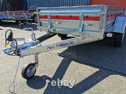 Nouvelle Remorque De Voiture 263 X 125cm Unbraked 750kg Twin Axle 8,7 Ft X 4,1 Ft