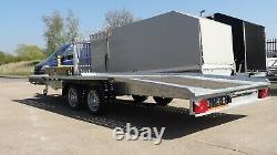 Nouvelle Remorque De Voiture 5m X 2,1m 3000kg Twin Axle Al-ko Car Transporter 16.4ft X 6.6ft