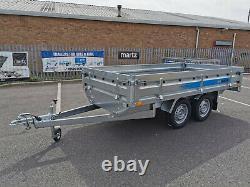 Nouvelle Remorque De Voiture Lit Plat 3m X 1,5m Twin Axe 750kg