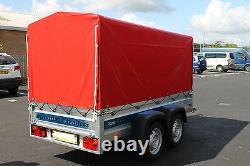 Nouvelle Remorque De Voiture Solidus Essieu Jumeau 8'7x4'1 750kg+ Top Cover 110cm