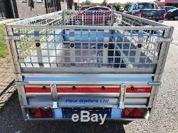 Nouvelle Voiture Mesh Cage Remorque Double Essieu Temared 265cm X 125cm X 8,7ft 4,1ft 750 KG