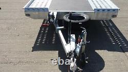 Nouvelle Voiture Remorque 16,4ft X 6,6ft Double Essieu 3000 KG Al-ko Transporteur De Voitures