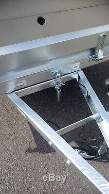 Nouvelle Voiture Remorque Double Essieu 7'9x4'3 Benne Basculante 750kg Neptun Cage Maille