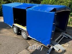 Prg Double Essieu Hydraulique Tilt Car Transporter Remorque Avec Couvercle Et Manuel Winch