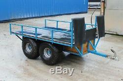 Quad Vtt Tir À Plat Transporter Double Axle Remorque À Peine Utilisé A1
