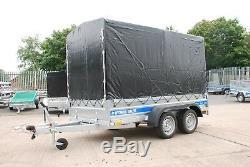 Remorque 10ft X 5ft Double Essieu 1300 KG Avec Toile Couverture Freinée