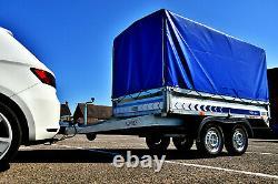 Remorque 2,61 M X 1,44 M (8'7 X 4'4) Twin Axle 750 KG Couverture En Toile