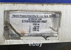 Remorque À Double Essieu De 10 Pieds X 5 Pieds Coffre-fort Entièrement Freiné 2000kg