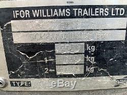 Remorque Benne Dropside Ifor Williams Tt126g 3500kg À Deux Essieux