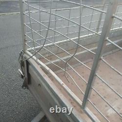 Remorque Cage Mesh Twin Axle Remorque Constructeur De Voiture Paysagistes Box Galvanisé Côtés