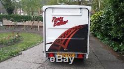 Remorque Coffre 750kg Double Essieu Non Freiné Bateson 120v 115cm X 205cm
