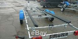 Remorque De Bateau 23-25ft Sur Remorque À 2 Essieux 1800kg Yard Off Road