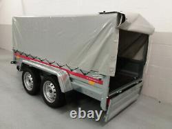 Remorque De Camping De Voiture Twin Axle 263 CM X 125 CM 750 KG Toile H 80cm