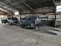 Remorque De Transport De Voiture Twin Axle Led Feux Rampes