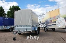 Remorque De Voiture 8,2 X 4,2 Twin Axe 750kg + Couverture De Toile Libre 1,5m