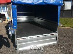 Remorque De Voiture 8 Pieds 7 '' X 4 '1' 'box Trailer Twin Axle 750 KG