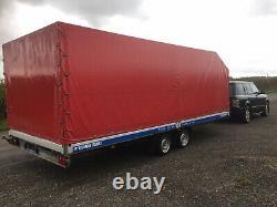 Remorque De Voiture Couverte / Transporteur 3.5t Twin Axle. Lit Plat Extra Large De 6,2 M De Long