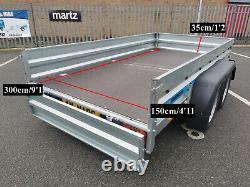 Remorque De Voiture Faro Solidus Max Twin Essieu 3m X 1.5m Freiné